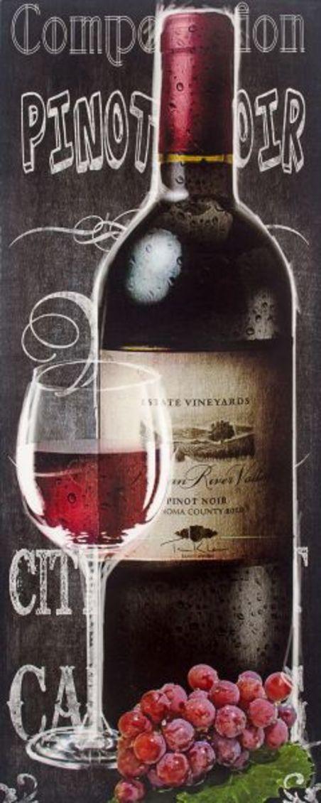 tela impressa garrafa vinhotinto  150x60x6cm