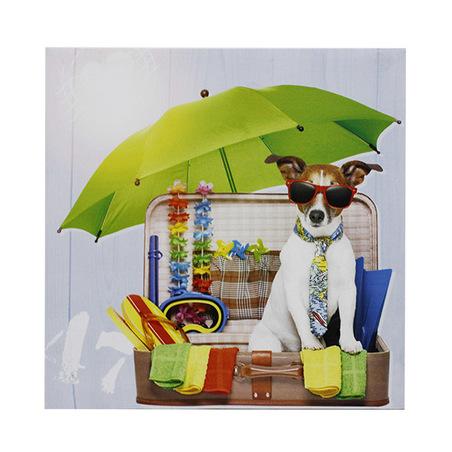-tela impressa vacation fashion dog  40x40x1,8cm