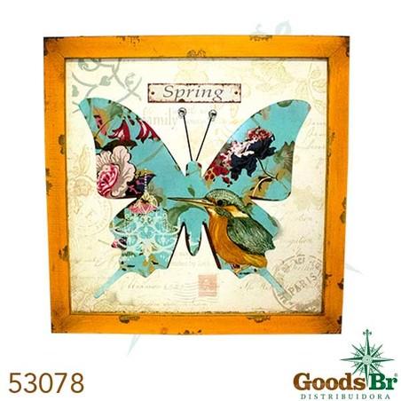 -quadro mad borboleta ferro spring  80x80x2cm