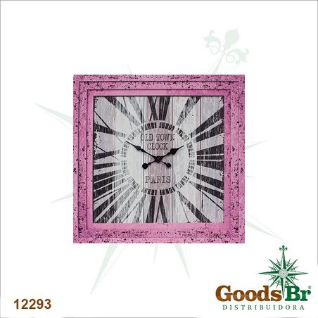 -relogio rosa oldtown paris70x70x3cm