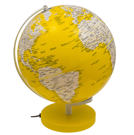 globo iluminado amarelo  40x31x30cm
