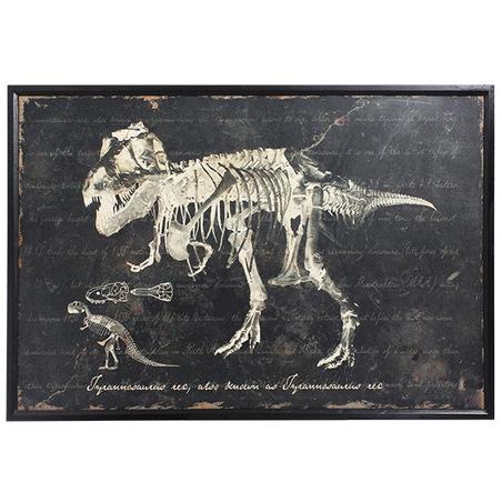 -quadro esqueleto tiranossauro 80x120x3cm