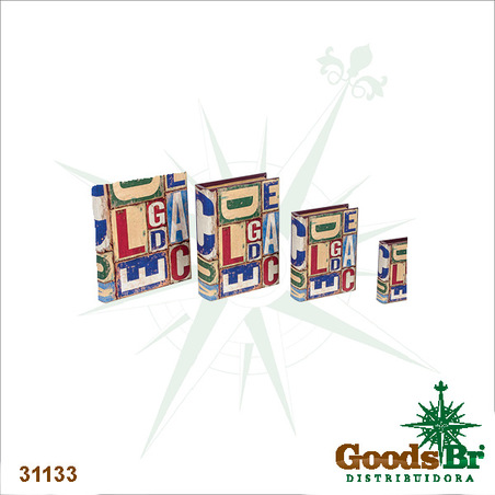 -book box cj 4pc abc design37x27x8cm