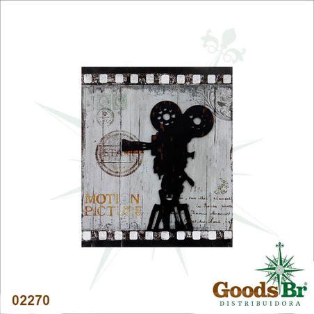 quadro metal/mad filmad retro recort  60x50x2cm