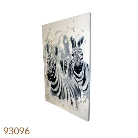 -quadro pintura 2 zebras em fila  120x80x4cm