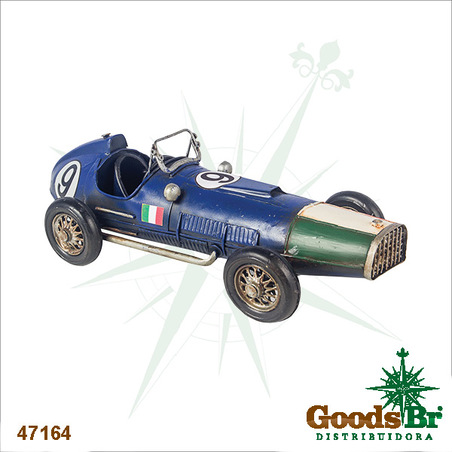 carro corrid ferrari italy azul em metal  10x32x14cm