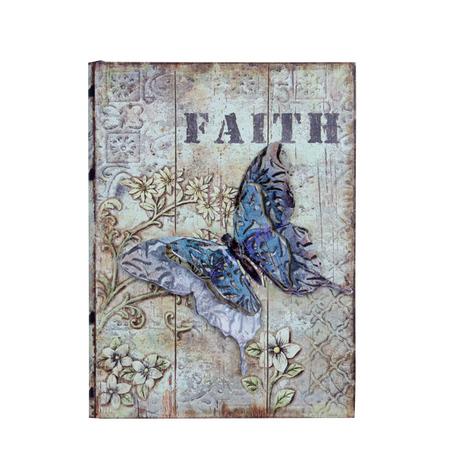 -book box borboleta em metalfaith  24x18x6cm