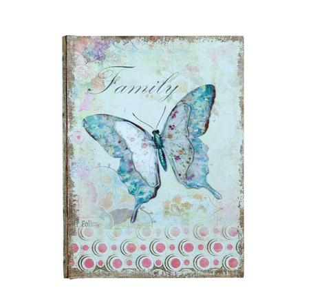 -book box borboleta em metalfamily  24x18x6cm