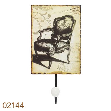 cabideiro metal 1 gancho chair  25x13x7cm
