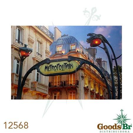 -tela impressa c led metropolitan  80x120x4cm