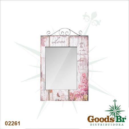 espelho retang flores love74x48x4cm