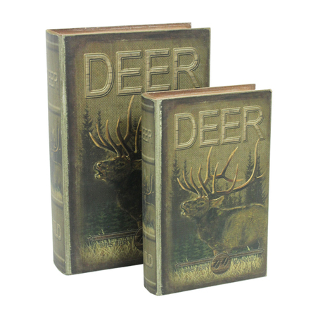 book box cj 2 pc deer  33x22x7cm