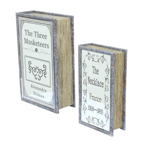 BOOK BOX CJ 2 PC COM ESPELHO THE THREE OLDWAY 27x18x7cm