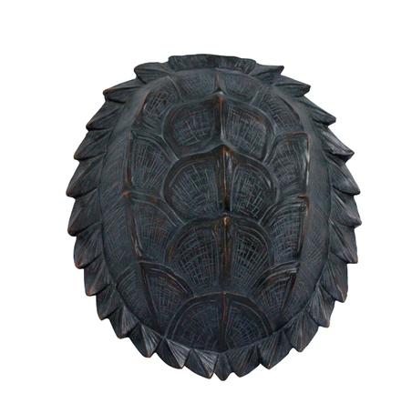 ESCULTURA PAREDE RESINA TARTARUGA NATURAL 37x34x11,5cm
