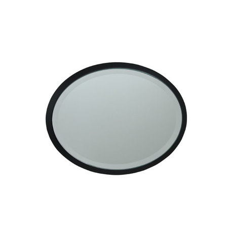 ESPELHO OVAL MDF BLACK GOLDWAY31X22X1,6CM