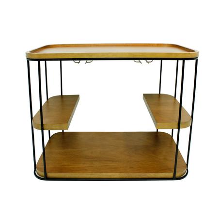 carrinho bar ferro madeira 75x93x52cm