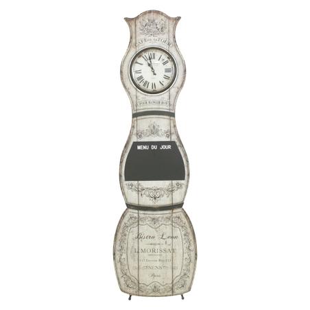 -relogio chao com quadro negro/ganchos  145x43x3,5cm