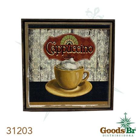 quadro linho antique cappuccino  70x70x3cm