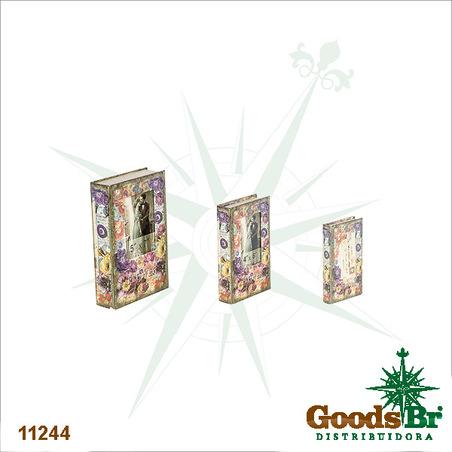 book box cj 3pc com foto flowe r  33x21x7,5cm