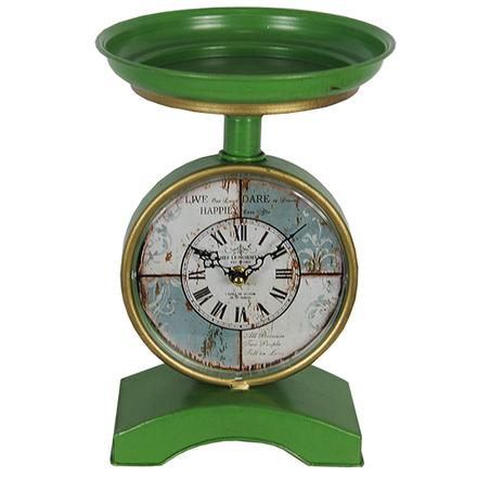 -relogio mesa tipo balan green  24x19x10cm
