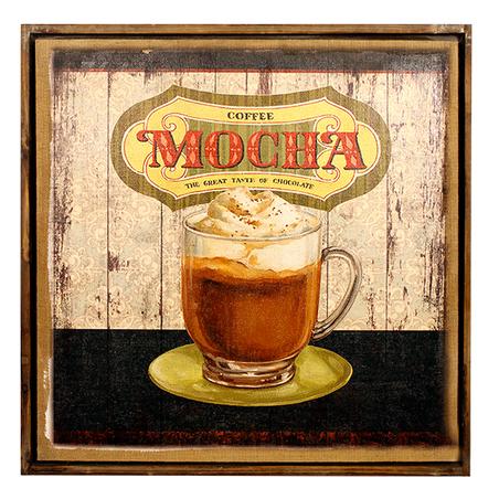 quadro linho antique mocha70x70x3cm
