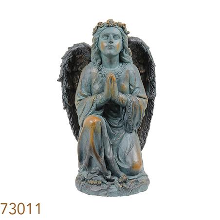 -estatua anjo orando  64x28x30cm