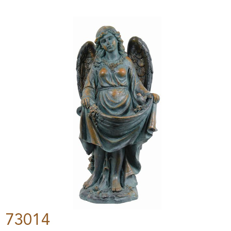 estatua comedouro pasar anjo vest  92x41x43cm
