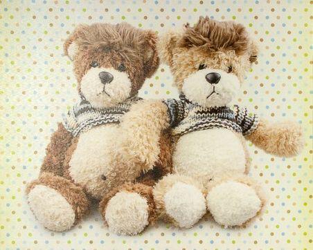 -tela impressa dois ursos  40x50x2,5cm