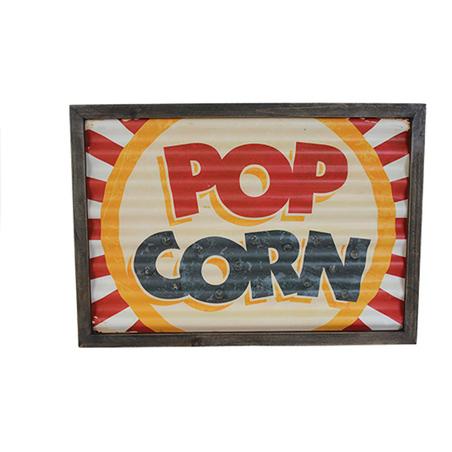 quadro em metal com led popcorn  30x43x4cm