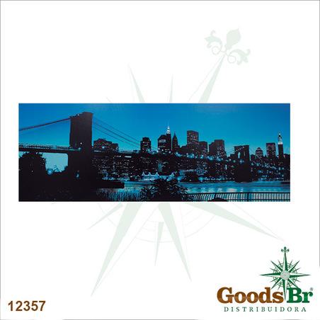 -tela leds city horizonte azul  70x195x4cm