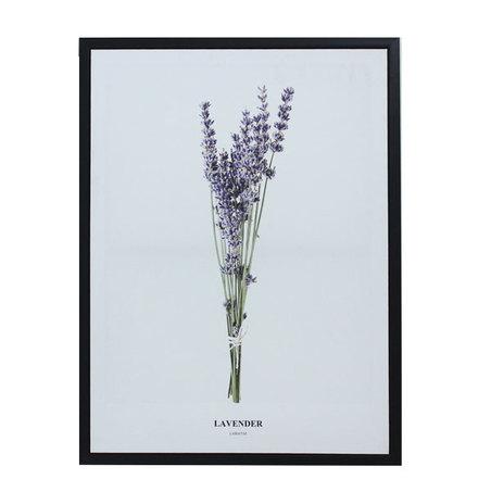 tela impressa c/ mold folhas lavender 80x60x3cm