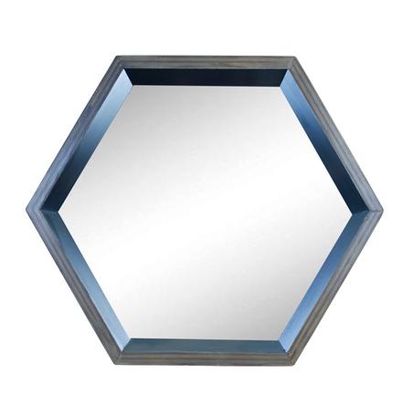 mÓdulo hexÁgono espelho preto  41x48x15cm