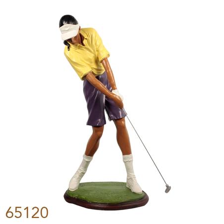 -escultura golfista fem  57x57x29cm