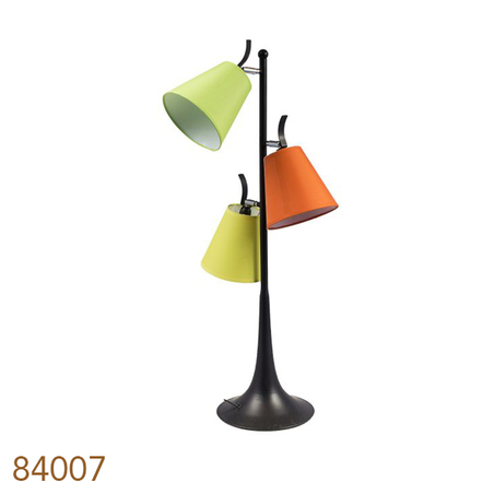 luminaria 3 cupulas yellow/green/orange 85x34x34cm