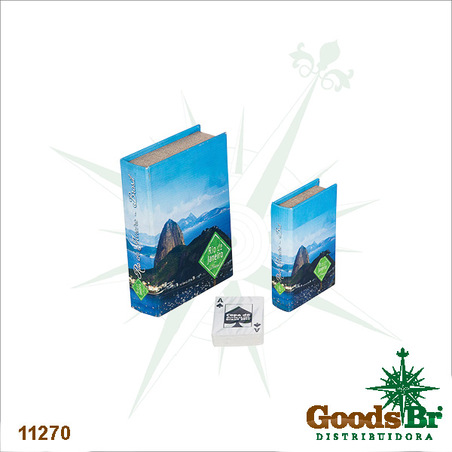 -book box cj 2pc pao de acucar  20x14x4cm