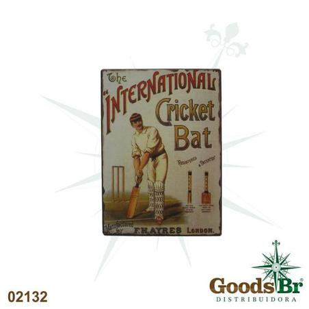 -placa de metal int.cricketo 33x25cm