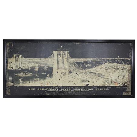quadro ponte brooklin mold90x200x5cm