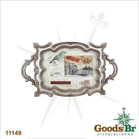 bandeja madeira/plastico birdvenezia  72x44x5cm
