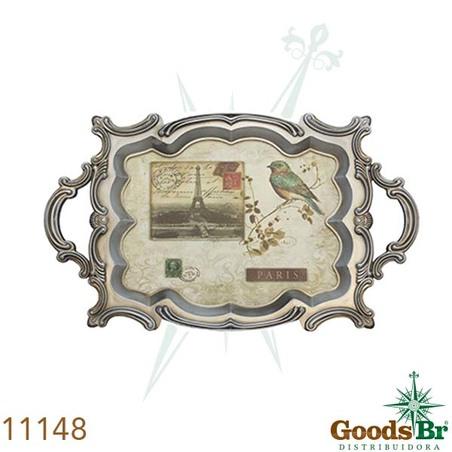 -bandeja madeira/plastico birdparis  72x44x4cm