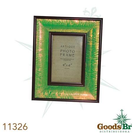 porta retrato verde brilho 10x15  26x21x4cm