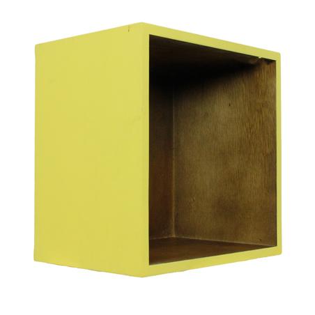 -mÓdulo quadrado amarelo externo  41x41x30cm