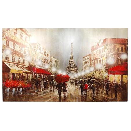 -tela a Óleo guarda chuvas emparis  200x120x3,8cm