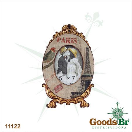 porta retrato 13x18 eiffel linho  36x22x1cm