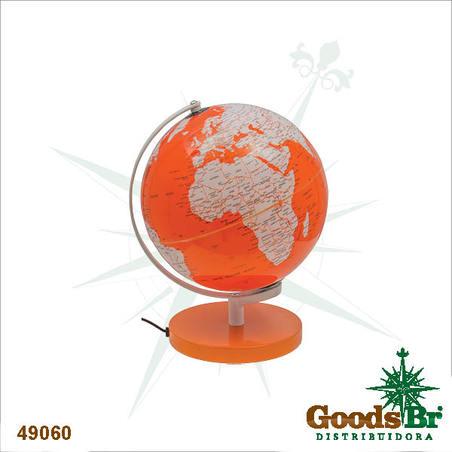 globo iluminado color laranja  30x27x25cm