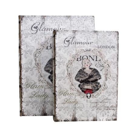 book box cj 2pc glamour london  28x21x7cm