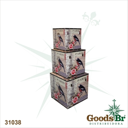 -caixa cj 3pcs paris 45x45x45cm