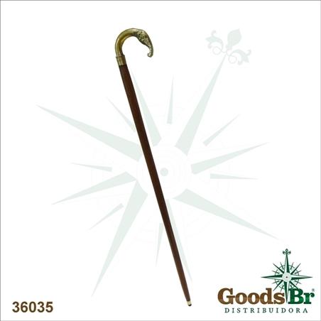 bengala bronze e madeira elephant  90x10x2,5cm