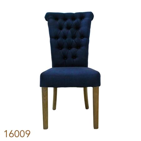 cadeira carvalho alta capitone azul  100x66x72cm