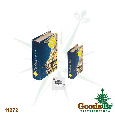 -book box cj 2pc estacao luz 20x14x4cm