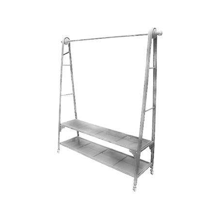 arara metal c/ prateleiras galvanizado 177x159x47cm